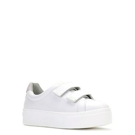 0dc55a16a3a3 Kenzo - Kenzo Women s Velcro Platform Sneakers F562SN413L51-01 White ...
