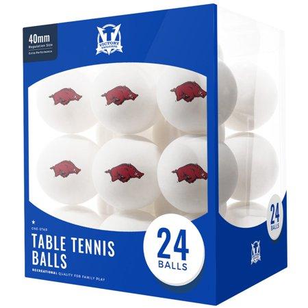 Arkansas Razorbacks 24-Count Logo Table Tennis Balls