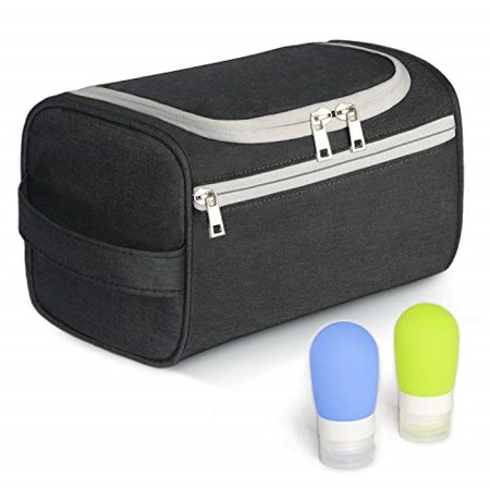 e32ec3cfda02 Zeamoco Toiletry Kit Shower Bag with 2 Travel Bottles Hanging ...