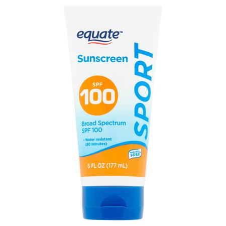 (2 pack) Equate Sport Broad Spectrum Sunscreen Lotion, SPF 100, 6 fl oz
