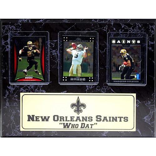 NFL New Orleans Saints 3-Card Plaque, 9x12