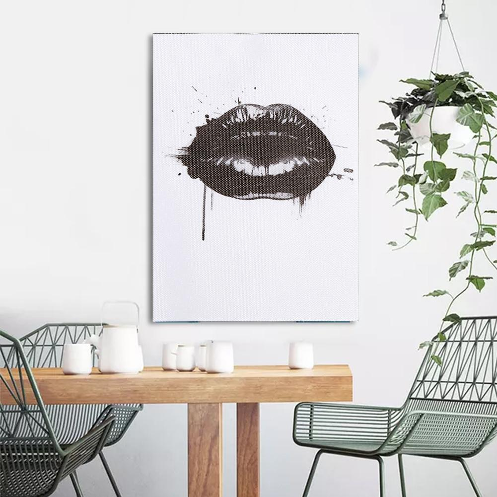 Dilwe Black Lips Canvas Prints on Canvas Wall Art Décor for Living Room Bedroom Home Decorations