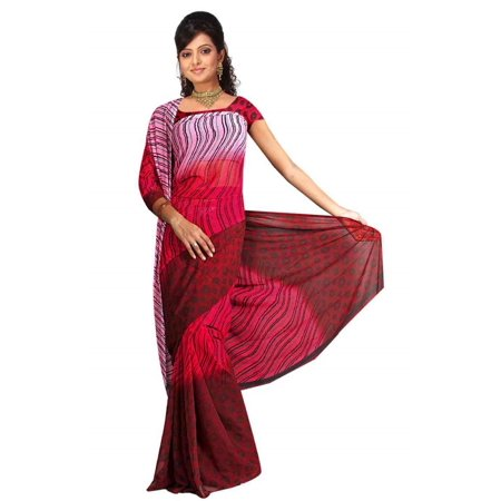 - Barkha Georgette Printed Casual Saree Sari Bellydance fabric