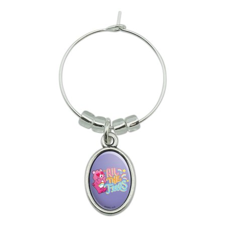 Care Bears: Unlock the Magic All the Feels Wine Glass Oval Charm Drink Marker
