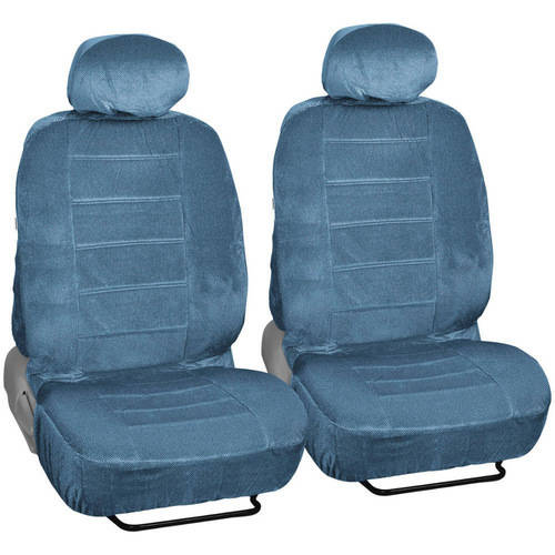 BDK Regal Car Seat Covers, Dotted Cloth 4 Piece Premium Low Back Seat Covers
