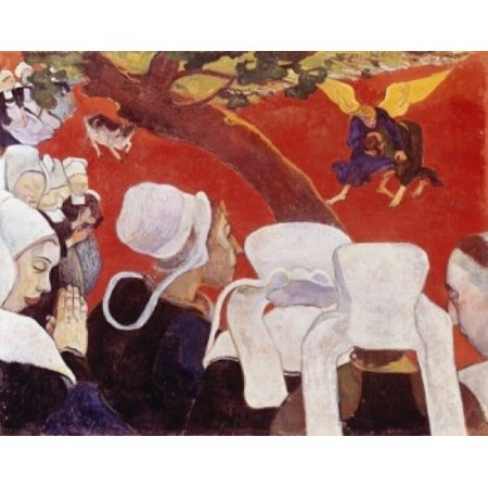 Vision after the Sermon 1888 Paul Gauguin Oil on canvas National Gallery of Scotland Edinburgh Scotland Poster (Paul Gauguin Vision After The Sermon 1888)