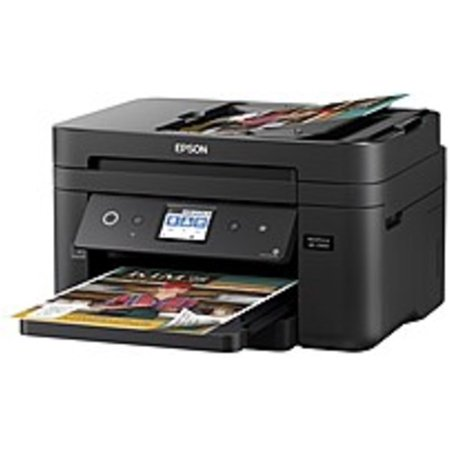 Epson Workforce C11CG28201 WF-2860 All-In-One Wireless Color Inkjet Printer, Copier, Scanner, Faxer - 14 ppm (Black), 7.5 ppm (Color) - U4800 x 1200 dpi - Hi-Speed USB - Wi-Fi -