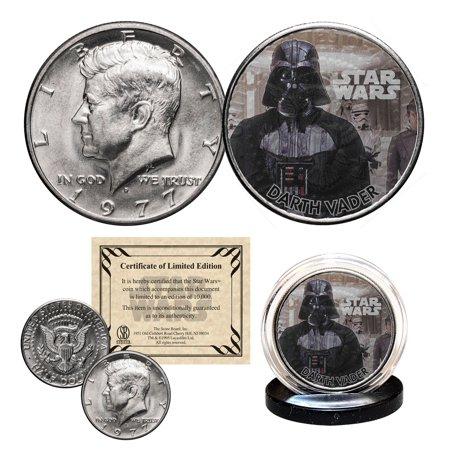 DARTH VADER - STAR WARS Officially Licensed 1977 JFK Half Dollar U.S.