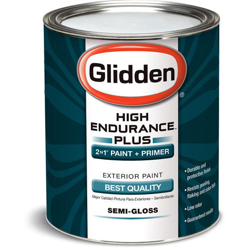 Glidden High Endurance Plus, Exterior Paint, Semi-Gloss Finish, Accent Base, 1 Quart