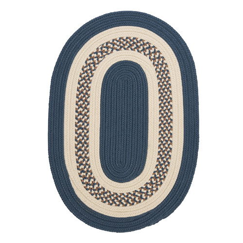 Colonial Mills Crescent Lake Blue Indoor/Outdoor Rug