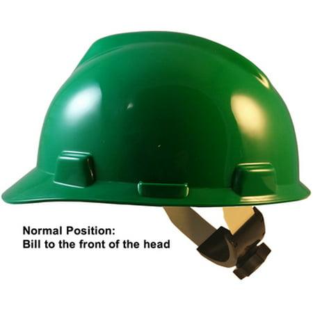 MSA V-Gard Cap Style Hard Hats with Swing Suspensions Dark Green Color](Purple Hard Hat)