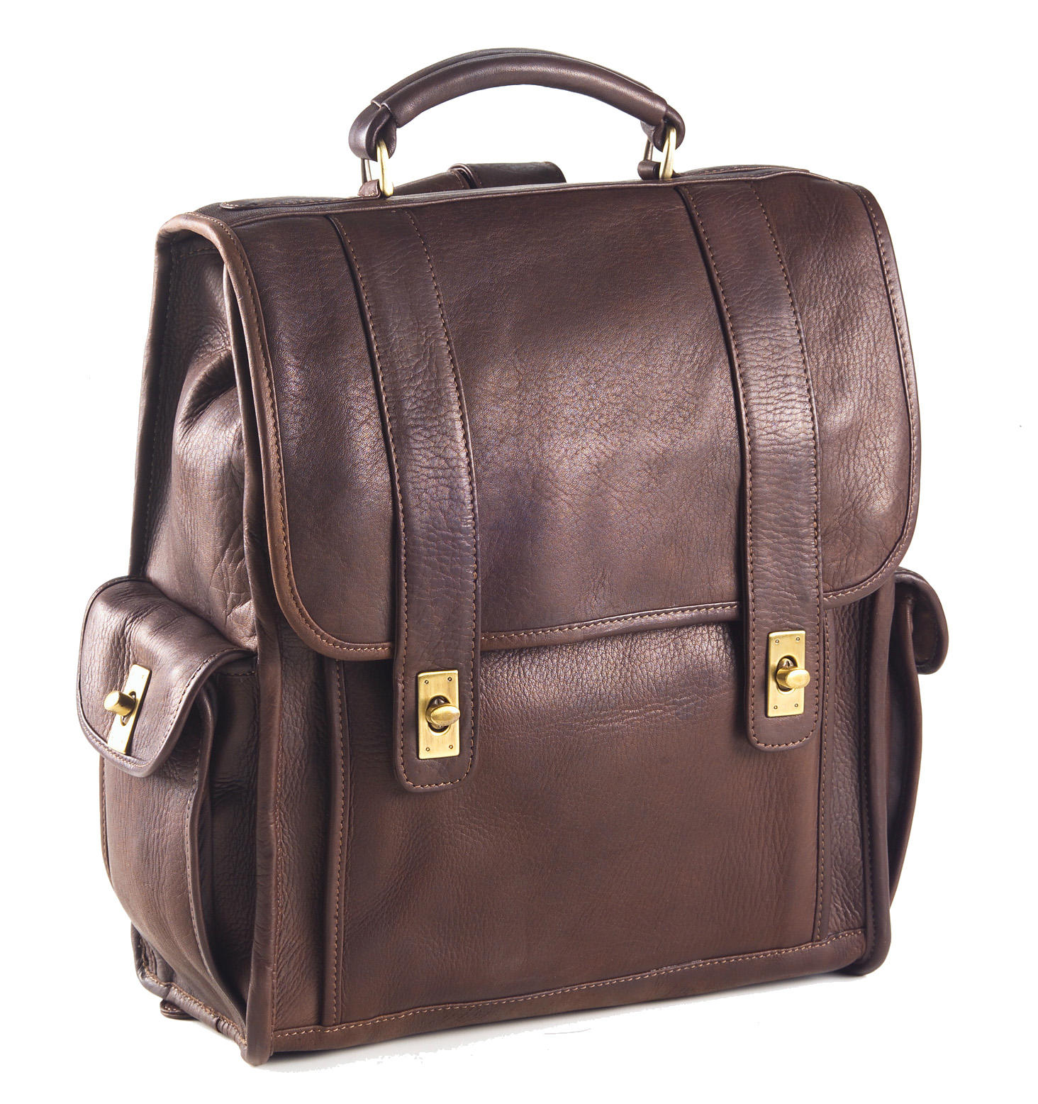 Clava Turnlock Leather Backpack
