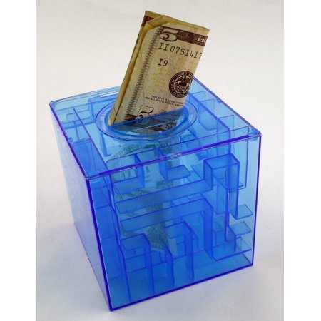 Money Puzzle Maze Bank Box Brain Teaser One Piece color will vary