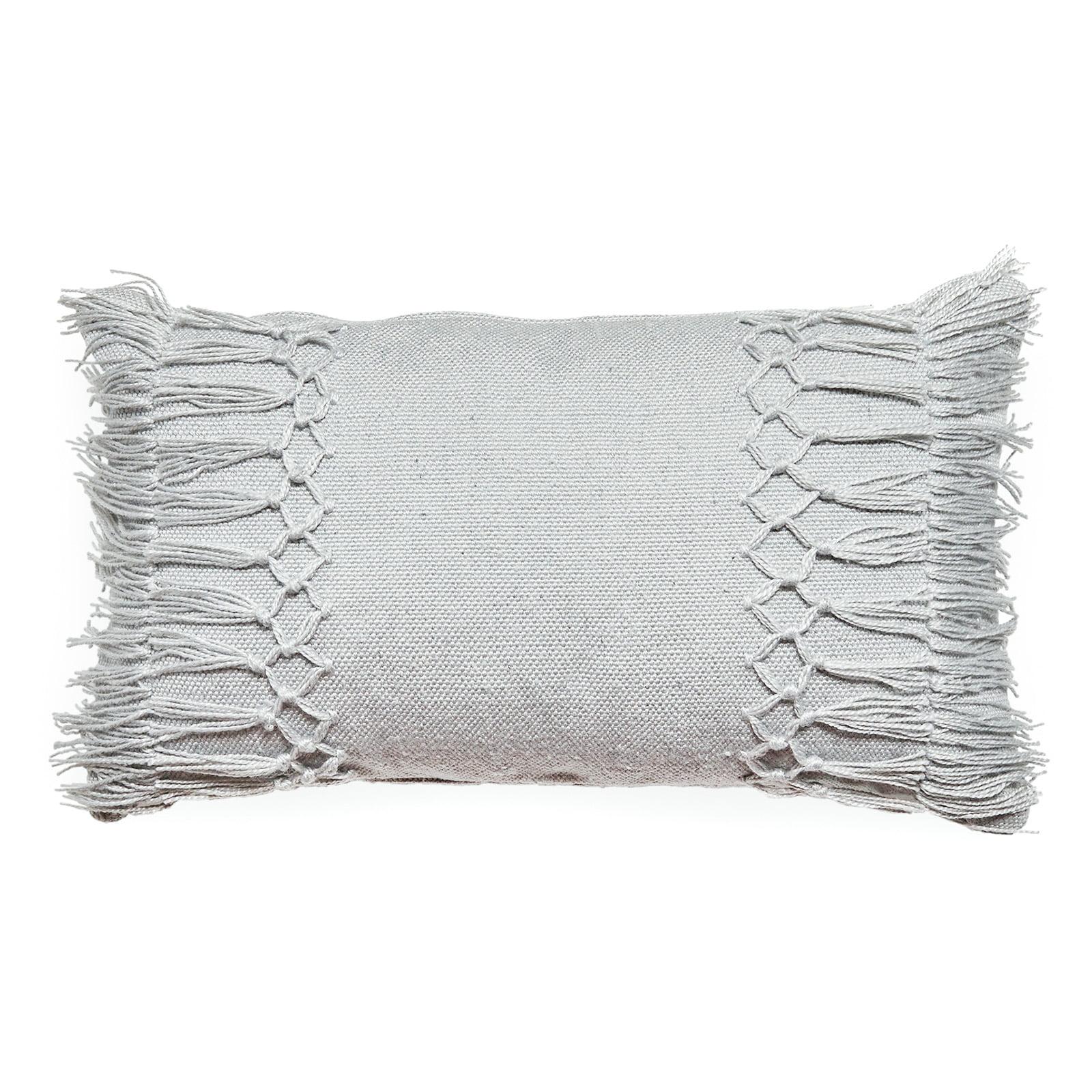 MoDRN 14in. x 24in. Textured Lumbar Outdoor Throw Pillow - Grey