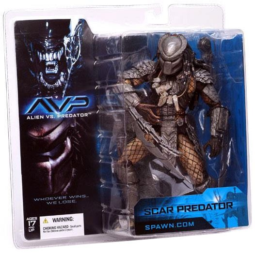 McFarlane Alien vs Predator Alien vs. Predator Movie Scar Predator Action Figure by