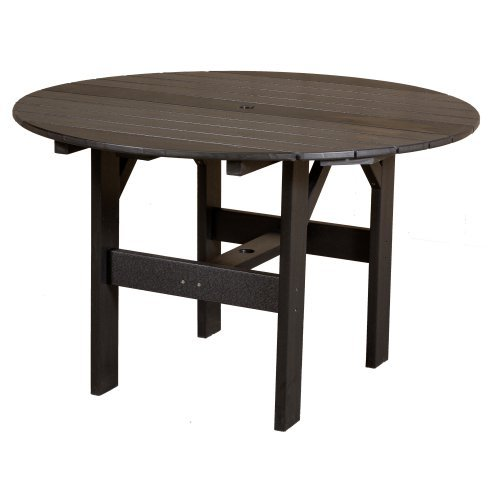 Little Cottage Classic Recycled Plastic 46 in. Round Patio Dining Table