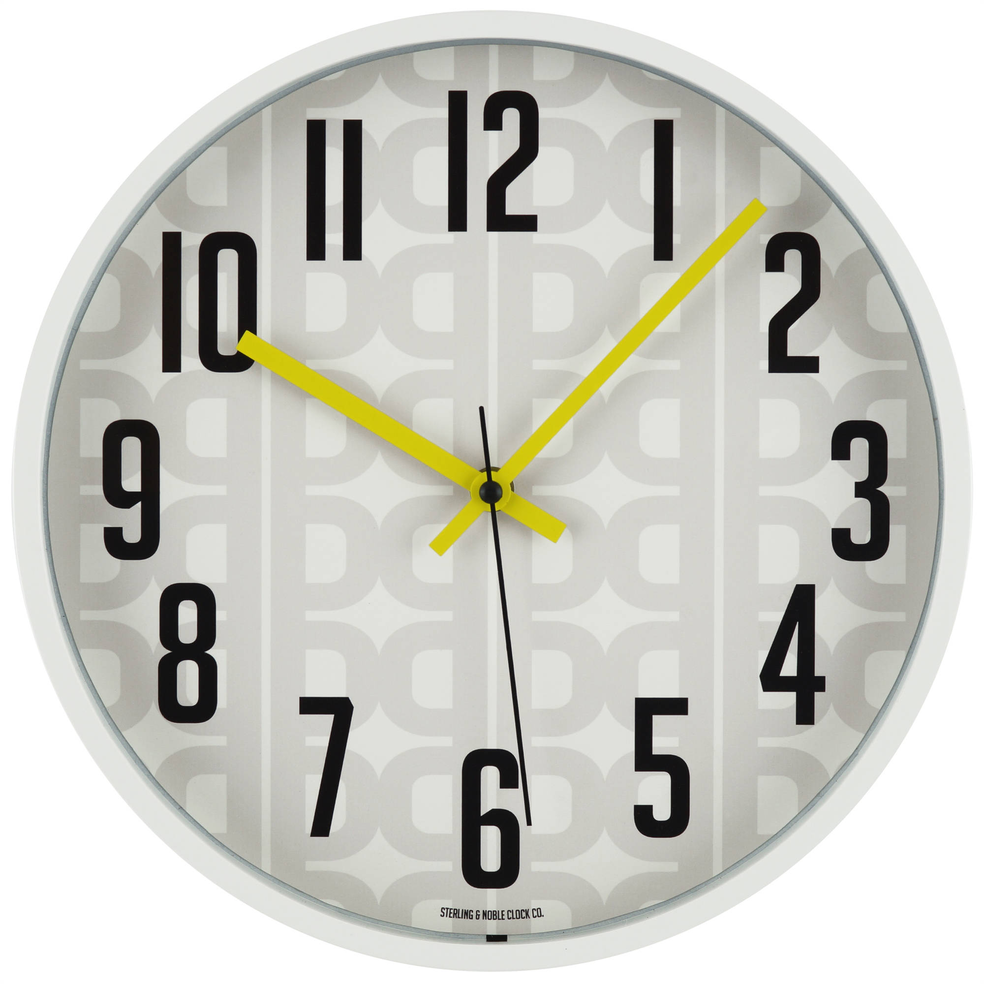 "Mainstays Patterned 11.5"" Wall Clock"