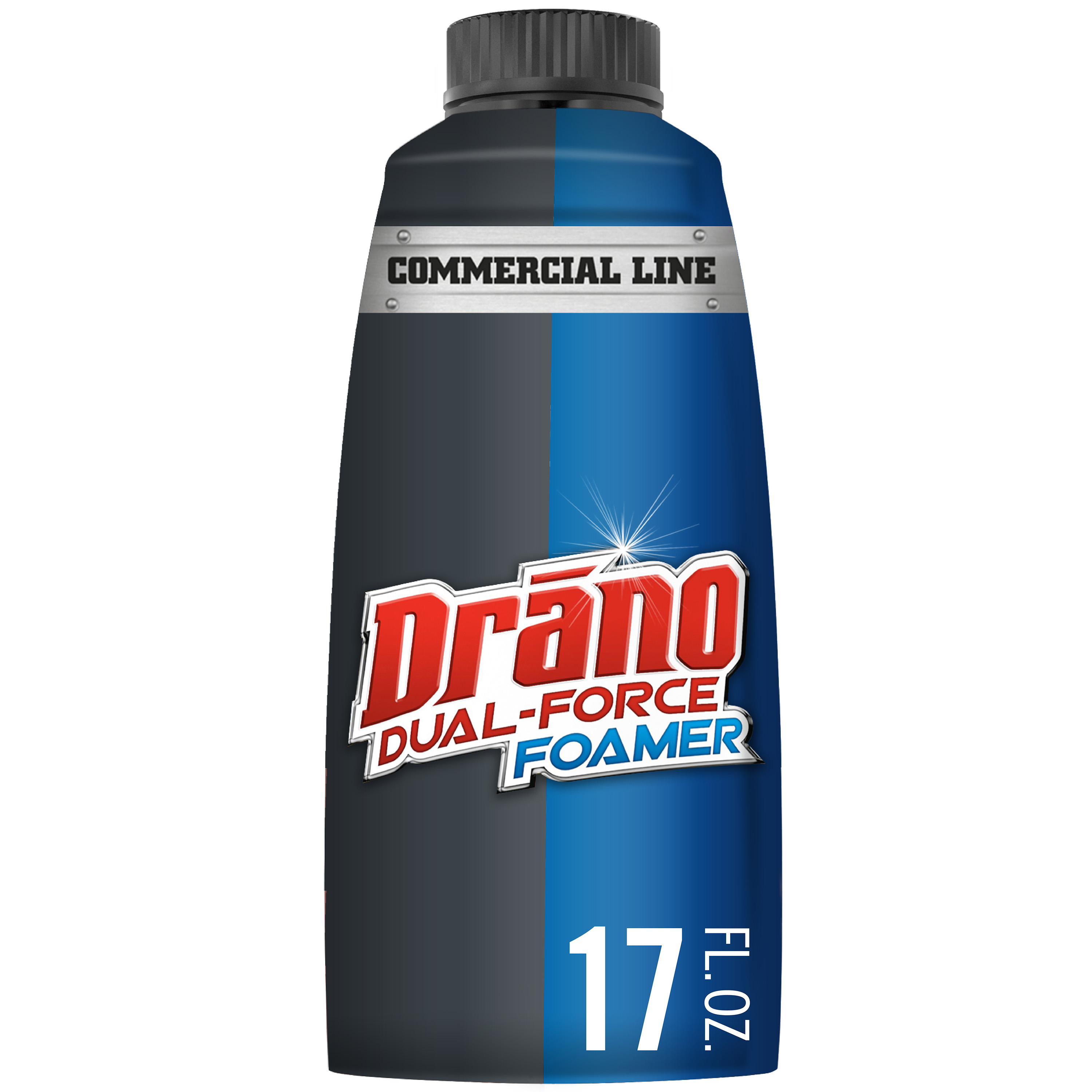 Drano Dual-Force Foamer Clog Remover, Commercial Line, 17 fl oz