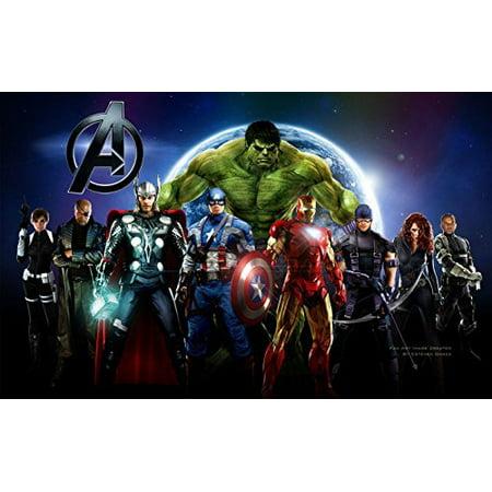 Avengers Cake Edible Icing Image #4 - 8.0 x - 10.5 Rectangular](Channel 4 Halloween Cakes)
