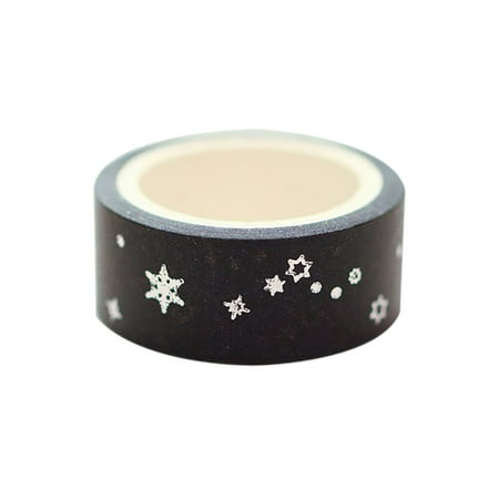 15mm*5m Gold Foil/Silver Foil Printed Patterns Washi Tape Sticky Adhesive Paper Masking Tapes for Scrapbooking DIY Decoration Gift Wrapping - image 3 de 5