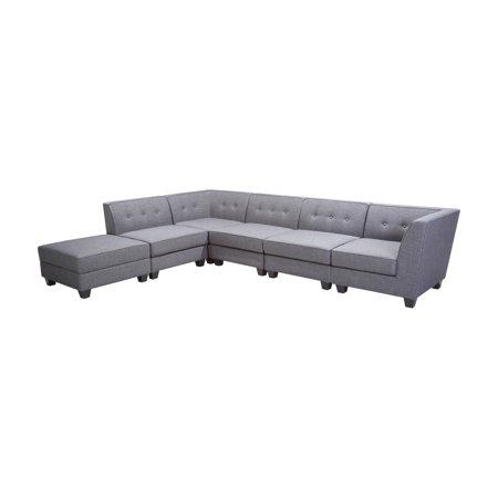 Best Master Furniture Vendome 6 Piece Modular Fabric Sectional Sofa Best Fabrics Sofas