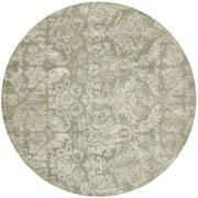 Martha Stewart  by  Damask Sage Wool/ Viscose Rug (6' Round)