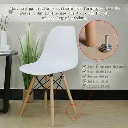 M8 x 25 x 30mm Leveling Feet Adjustable Leveler for Office Furniture Leg 24pcs - image 1 de 7