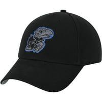 Men's Black Kansas Jayhawks Team Basic Adjustable Hat - OSFA