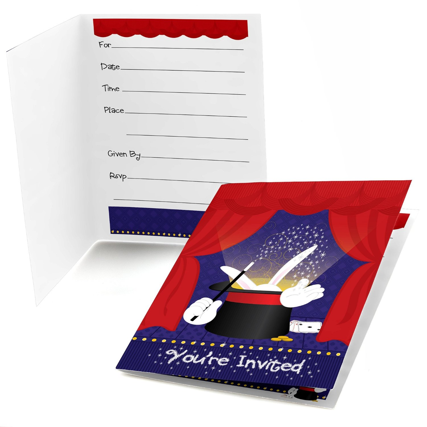 Magic - Fill In Party Invitations (8 count)