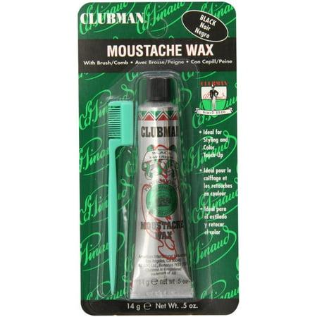 Clubman Moustache Wax Black 0.50 oz