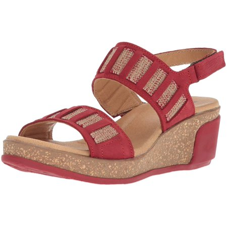 El Naturalista Womens Leaves Pleasant Open Toe Casual Slide, Red, Size 5.5