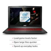 "MSI GV62 8RD-200 15.6"" Performance Gaming Laptop i5-8300H GTX 1050Ti 4G 8GB 16GB"
