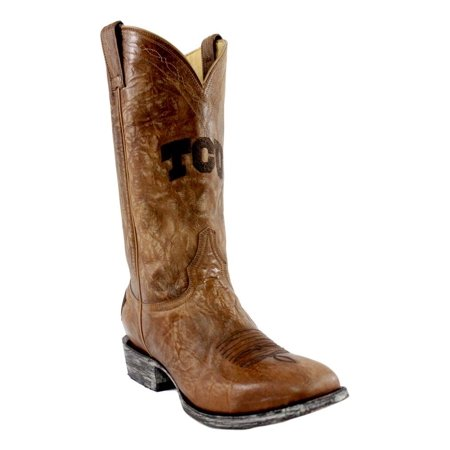 Gameday Boots Mens Texas Christian Square Leather Pull Tcu Mht2019 3