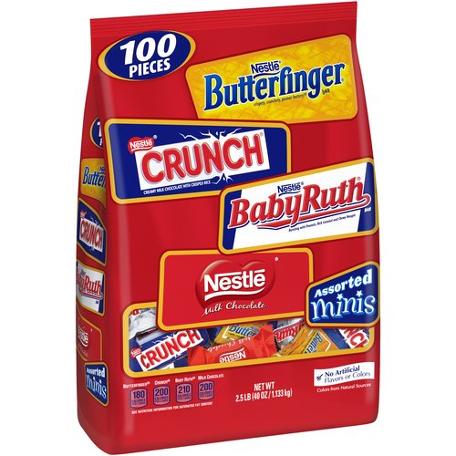 Nestle Assorted Miniatures Candy Bars, 40 oz