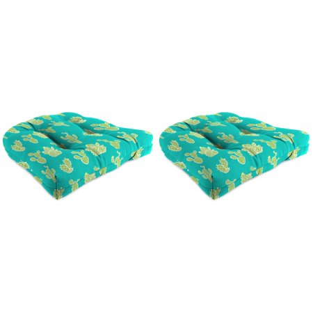 Mainstays Outdoor Patio Wicker Seat Cushion - Set of 2 - Buy More and Save ()