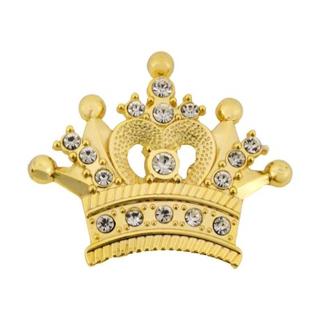Royal Papa Small Crown Belt Buckle Bling Bride Metal Princess Fashion Costume ()