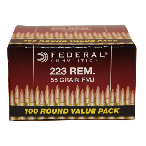 Federal Ammunition 223 Rem 55gr Full Metal Jacket, 100ct