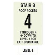 INTERSIGN NFPA-PVC1812(B1A4) NFPASgn,Stair Id B,Floors Served 1 to 4 G0263621