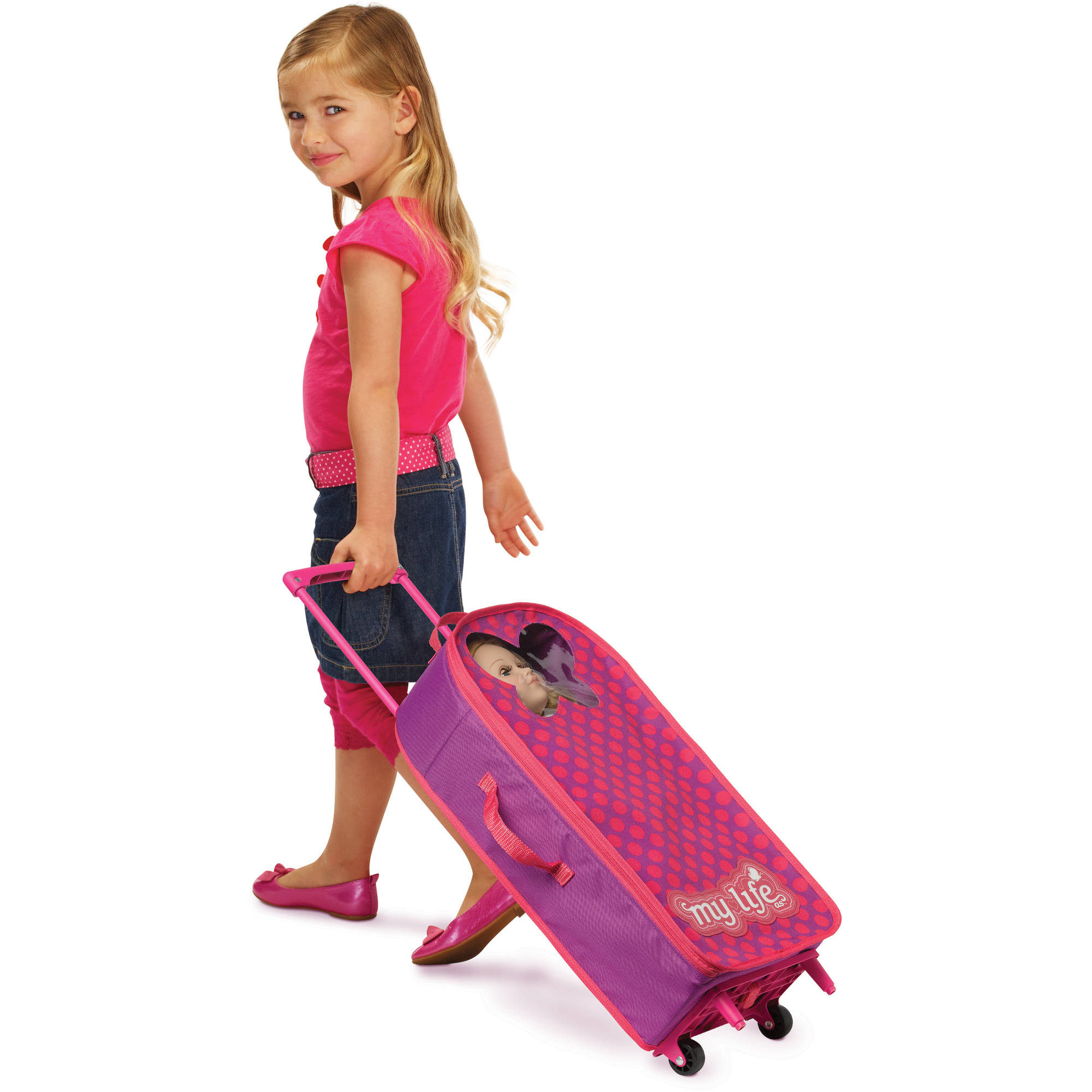 My Life As Girl Doll Carrier Rolling Luggage