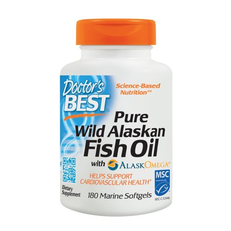 Doctor'S Best Pure Wild Alaskan Fish Oil With Alaskomega, Non-Gmo, Gluten Free Marine Softgels, 180 (Best Form Of Omega 3 Supplement)