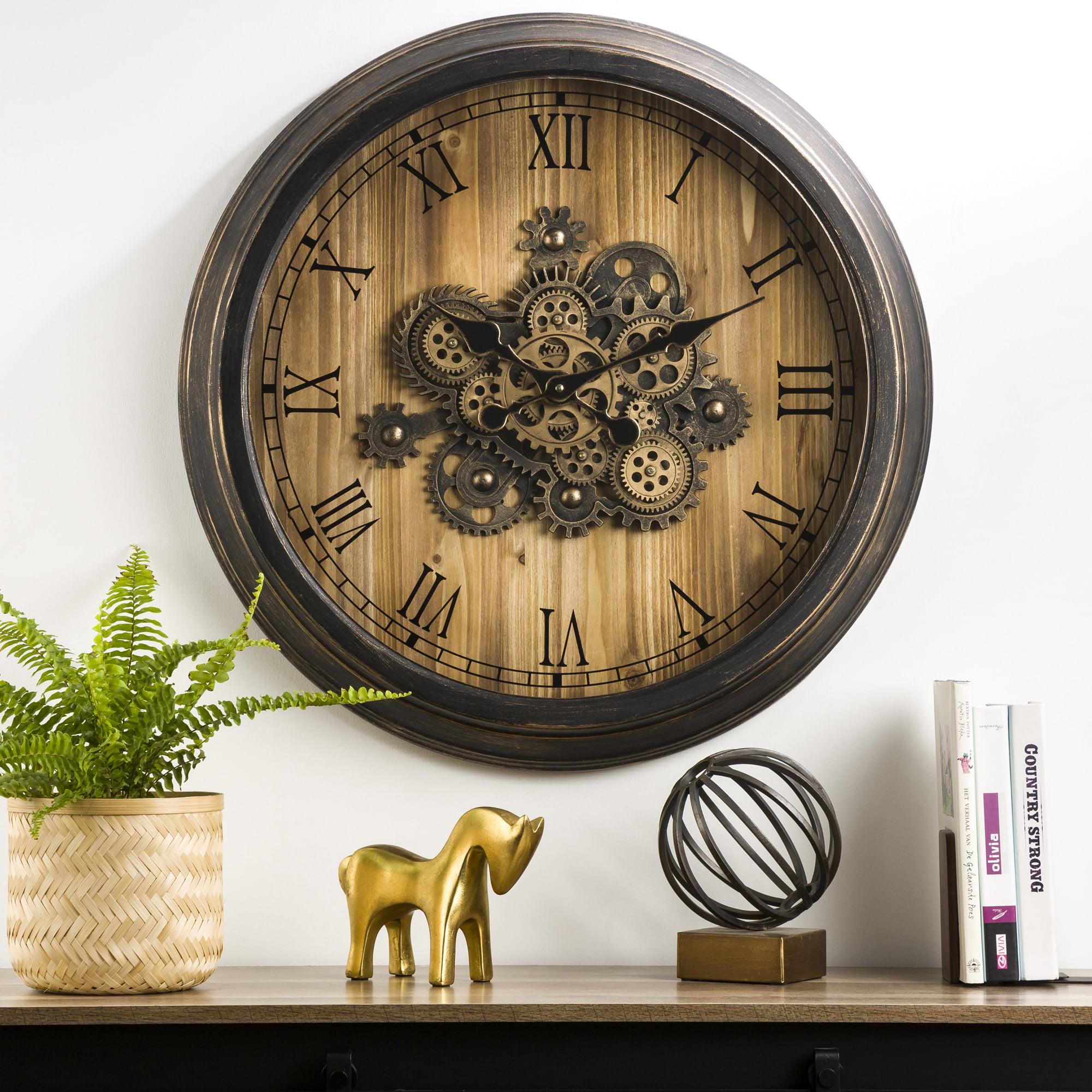 farmhouse decor rustic decor - big clock large clock The Olivia Farmhouse clock rustic clock oversized wall clock