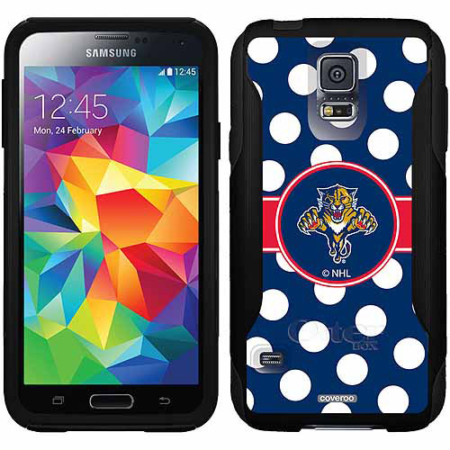 Florida Panthers Polka Dots Design on OtterBox Commuter Series Case for Samsung Galaxy S5