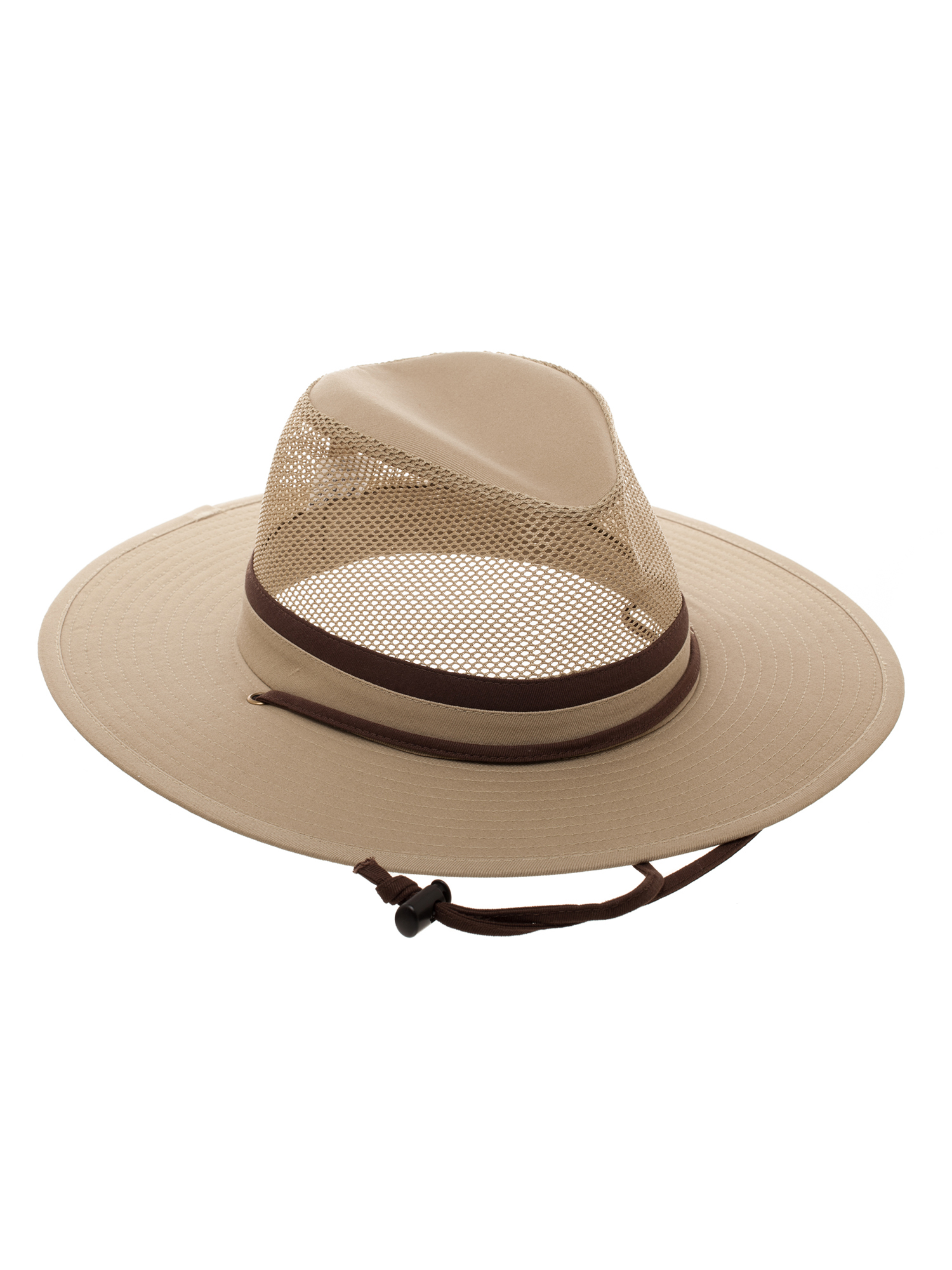 b08c6e98d45 Swiss Tech - Swiss Tech Men s Fitted Khaki Safari Cap With Mesh Crown -  Walmart.com