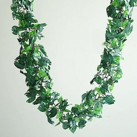 BalsaCircle 6 feet Long 3D Chain Pothos Greenery Garland - Wedding Party Reception Home Decorations