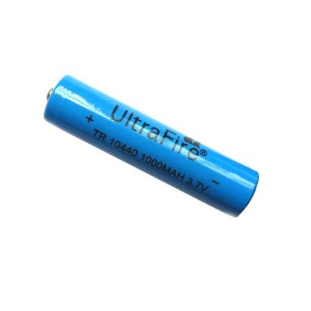 UltraFire 10440 Battery 3.7V AAA 1000mAh Li-ion Rechargeable Batteries(1PC) (Li Ion Aaa Battery)