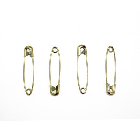 Gold Safety Pins Size 2 - 1.5 Inch 144 Pieces