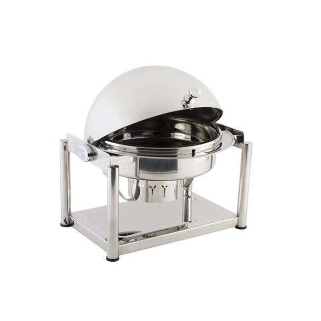 Bon Chef 11001D Stainless Steel Olympia Dripless Round Chafing Dish, 2 gal Capacity, 21-1 4 Length x 18 Width... by Bon Chef