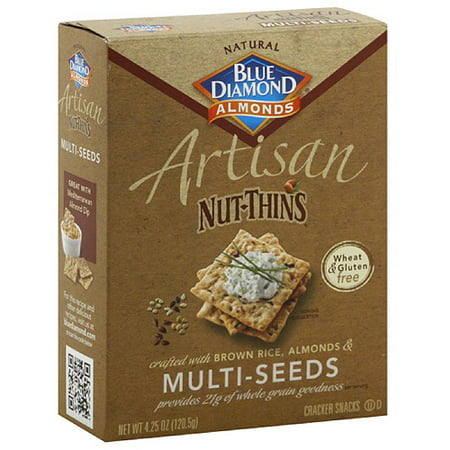 (Blue Diamond Almonds Artisan Nut-Thins Multi-Seeds Cracker Snacks, 4.25 oz, (Pack of 12))