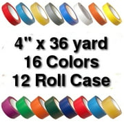 Vinyl Marking Tape 4 inch x 36 yard (12 Roll Case) - Clear