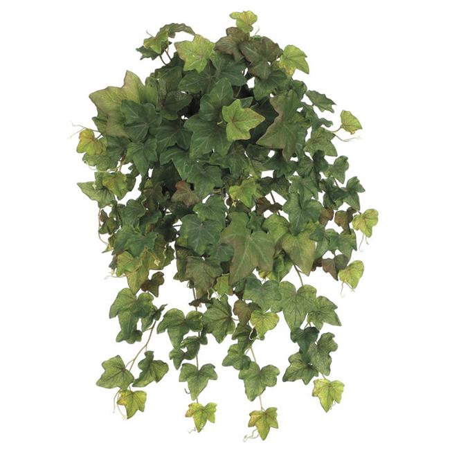 23 Inch Rounded English Ivy Hanging Bush x19 - Green Brown - Qty of 6